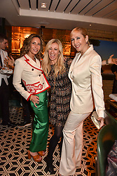 Left to right, Tara Bernerd, Jenny Halpern-Prince and Tania Bryer at a party to celebrate the publication of Place by Tara Bernerd held at il Pampero at The Hari, 20 Chesham Place, London, England. 8 March 2017.