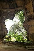 hole in old elegant ceiling