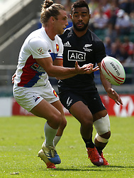 May 26, 2019 - Twickenham, England, United Kingdom - Stephen Perez of France.during The HSBC World Rugby Sevens Series 2019 London 7s Cup Quarter Final Match 30 between New Zealand and France at Twickenham on 26 May 2019. (Credit Image: © Action Foto Sport/NurPhoto via ZUMA Press)
