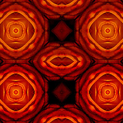 Computer enhanced kaleidoscope of shapes and colors zooming to center point.<br /> <br /> Altered and enhanced abstract as digital computer art.<br /> <br /> Two or more layers used to enhance, alter, manipulate the image, creating an abstract surrealistic mirrored symmetry.