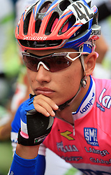 Simon Spilak of Slovenia (Lampre) just before start in last 4th stage of the 15th Tour de Slovenie from Celje to Novo mesto (157 km), on June 14,2008, Slovenia. (Photo by Vid Ponikvar / Sportal Images)/ Sportida)