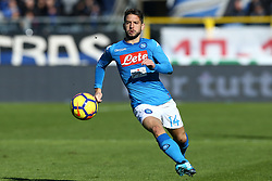 January 21, 2018 - Bergamo, Italy - Dries Mertens of Napoli  during the Italian Serie A football match Atalanta Vs Napoli on January 21, 2018 at the 'Atleti Azzurri d'Italia Stadium' in Bergamo. (Credit Image: © Matteo Ciambelli/NurPhoto via ZUMA Press)
