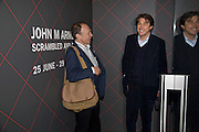 ANTHONY HAYDEN-GUEST AND BRYAN FERRY, John Armleder preview/ dinner. Simon Lee Gallery and afterwards at Automat. Berkeley St. London. 24 June 2008.  *** Local Caption *** -DO NOT ARCHIVE-© Copyright Photograph by Dafydd Jones. 248 Clapham Rd. London SW9 0PZ. Tel 0207 820 0771. www.dafjones.com.