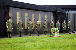 Glasnevin Cemetery, Sunday 3 April 2016., The Interfaith Service, Unveiling of Necrology Wall.