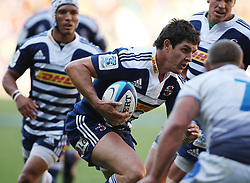 Jaque Fourie of the Stormers on the way to score his third try of the game during the Super Rugby (Super 15) fixture between DHL Stormers and the The Force played at DHL Newlands in Cape Town, South Africa on 26 March 2011. Photo by Jacques Rossouw/SPORTZPICS