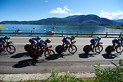 FDJ Nouvelle Aquitaine Futuroscope at Giro Rosa 2018 - Stage 1, a 15.5 km team time trial in Verbania, Italy on July 6, 2018. Photo by Sean Robinson/velofocus.com
