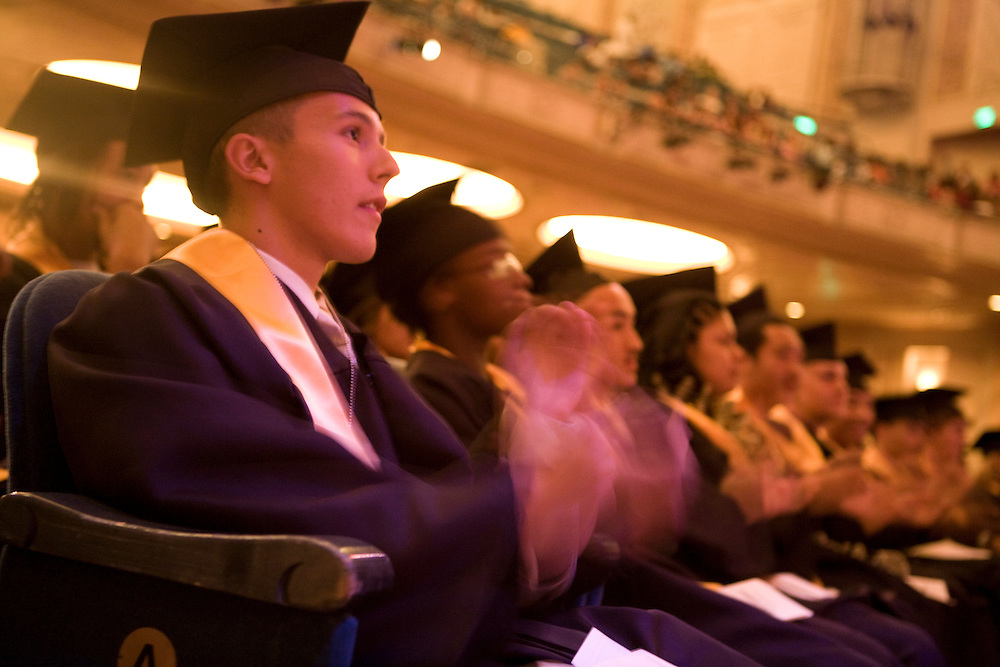 Class of 2007 graduates of Roosevelt High School in Portland, OR.