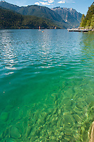 The water of Anderson Lake is clear and fresh and perfect for swimming, paddleboarding, and relaxing on the dock