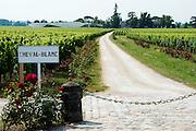 FRANCE, Saint Emilion<br /> Chateau Cheval Blanc (Premier Grand Cru Classé A) and its vineyards