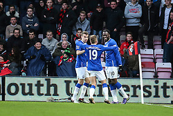 Goal, Romelu Lukaku of Everton scores, Bournemouth 0-2 Everton - Mandatory by-line: Jason Brown/JMP - Mobile 07966 386802 28/11/2015 - SPORT - FOOTBALL - Bournemouth, Vitality Stadium - AFC Bournemouth v Everton - Barclays Premier League