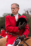 Fox Hunters listen to the Blessing of the Hounds to mark the first hunt of the season at Middleton Place Plantation December 1, 2013 in Charleston, SC.