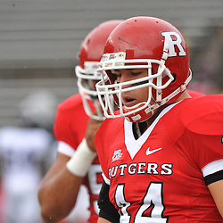 Sep 12, 2009; Piscataway, NJ, USA;  Rutgers linebacker Ryan D'Imperio (44) warms up before Rutgers' 45-7 victory over Howard in NCAA College Football at Rutgers Stadium.