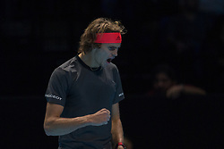 November 17, 2018 - Londres, Inglaterra - LONDRES, LO - 17.11.2018: ATP FINALS 2018 - Alexander Zverev (ALE) in a match valid for the ATP Finals 2018 tournament held in London, England. (Credit Image: © Andre Chaco/Fotoarena via ZUMA Press)