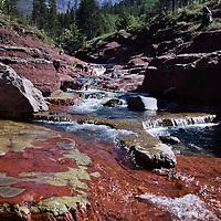 Red Rock Canyon Waterton Lakes National Park, Alberta, Canada