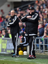 Cardiff City Manager Russell Slade on the side line at Cardiff City Stadium during the Sky Bet Championship match between Cardiff City and Preston North End on 27 February 2016 - Mandatory by-line: Paul Knight/JMP - Mobile: 07966 386802 - 27/02/2016 -  FOOTBALL - Cardiff City Stadium - Cardiff, Wales -  Cardiff City v Preston North End - Sky Bet Championship