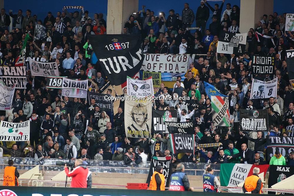 Supporters JUVENTUS DE TURIN  - 22.04.2015 - Monaco / Juventus Turin - 1/4Finale retour Champions League<br />Photo : Serge Haouzi / Icon Sport