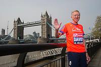 Virgin Money London Marathon 2015<br /> <br /> David Hemery-UK (former Olympic 400m Hurdlles runner) one of the celebrities  competing in the IVirgin Money London Marathon<br /> <br /> Photo: Bob Martin for Virgin Money London Marathon<br /> <br /> This photograph is supplied free to use by London Marathon/Virgin Money.
