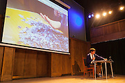 The Boring Conference at Conway Hall. Jason Ward does a jigsaw puzzle on stage, watched by a live feed online, while the Boring Conference goes on. The Boring Conference is a one-day celebration of the mundane, the ordinary, the obvious and the overlooked; subjects often considered trivial and pointless, but when examined more closely reveal themselves to be deeply fascinating.<br /> <br /> It was created in response to the cancellation of the 2010 Interesting Conference. It seemed like the obvious thing to do.