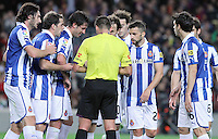 06.01.2013 Barcelona, Spain. La Liga day 18. Referee Jesus Gil in action during game between FC Barcelona against RCD Espanyol at Camp Nou