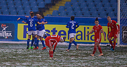 CESENA, ITALY - Tuesday, January 22, 2019: Italy's Ilaria Mauro (#11) celebrates scoring the first goal during the International Friendly between Italy and Wales at the Stadio Dino Manuzzi. (Pic by David Rawcliffe/Propaganda)