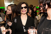BIANCA JAGGER, Prada presents a book documenting the company's diverse projects in fashion, architecture, film and art. Prada Shop. 16/18 Old Bond St. London W1. *** Local Caption *** -DO NOT ARCHIVE-© Copyright Photograph by Dafydd Jones. 248 Clapham Rd. London SW9 0PZ. Tel 0207 820 0771. www.dafjones.com.<br /> BIANCA JAGGER, Prada presents a book documenting the company's diverse projects in fashion, architecture, film and art. Prada Shop. 16/18 Old Bond St. London W1.