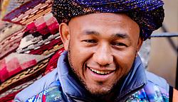 A portrait of a Berber stallholder in the medina in Marrakech, Morocco, North Africa<br /> <br /> <br /> <br /> (c) Andrew Wilson   Edinburgh Elite media