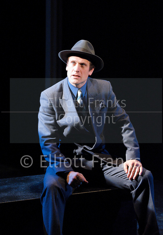 The Big Sleep <br /> by Raymond Chandler<br /> adapted for stage by John D Rakoff &amp; Alvin Rakoff <br /> World Stage Premier<br /> at The Mill at Sonning, Oxofrdshire, Great Britain <br /> Rehearsal photographs <br /> 19th October 2011 <br /> <br /> Simon Merrells as Philip Marlowe<br /> <br /> Samantha Coughlan<br /> <br /> Anna Doolan<br /> <br /> Michael Percival<br />   <br /> Elliot Harper <br /> <br /> Martyn Stanbridge<br /> <br /> directed by Alvin Rakoff<br /> set design by Eileen Diss<br /> Costumes by Jane Kidd<br /> Lighting by Matthew Biss<br /> <br /> <br /> <br /> Photograph by Elliott Franks<br /> Contact:<br /> Sue Hyman Associates