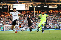 LONDON, ENGLAND - MAY 14:LONDON, ENGLAND - MAY 14:Fulhams Ryan Fredericks blocks a cross from Derby's Ikechi Anya