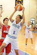DESCRIZIONE : Ortona Giochi del Mediterraneo 2009 Mediterranean Games Italia Italy Albania Preliminary Women<br /> GIOCATORE : Mariachiara Franchini<br /> SQUADRA : Nazionale Italiana Femminile<br /> EVENTO : Ortona Giochi del Mediterraneo 2009<br /> GARA : Italia Italy Albania<br /> DATA : 28/06/2009<br /> CATEGORIA : tiro<br /> SPORT : Pallacanestro<br /> AUTORE : Agenzia Ciamillo-Castoria/G.Ciamillo
