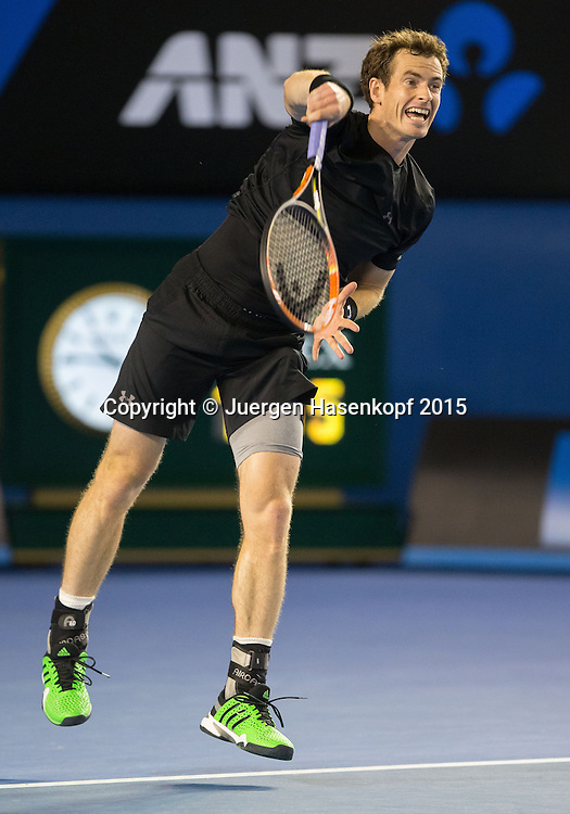 Andy Murray (GBR)<br /> <br />  - Australian Open 2015 - Ambience- -  Melbourne Park Tennis Centre - Melbourne - Victoria - Australia  - 25 January 2015. <br /> &copy; Juergen Hasenkopf