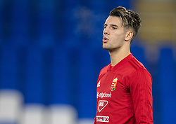 CARDIFF, WALES - Monday, November 18, 2019: Hungary's Dominik Szoboszlai during a training session at the Cardiff City Stadium ahead of the final UEFA Euro 2020 Qualifying Group E match between Wales and Hungary. (Pic by David Rawcliffe/Propaganda)