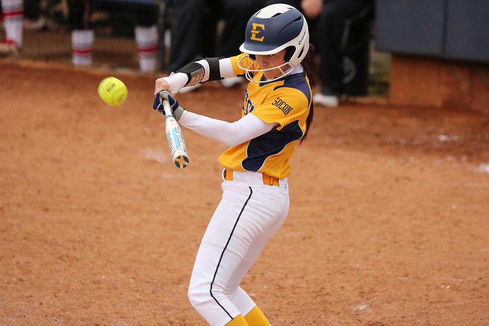 March 10, 2018 - Johnson City, Tennessee - Betty Basler Field: ETSU second baseman Lauren Lee (4)<br /> <br /> Image Credit: Dakota Hamilton/ETSU