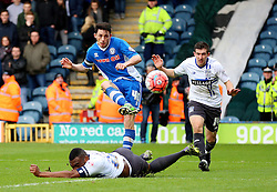Ian Henderson of Rochdale fires a shot at goal  - Mandatory byline: Matt McNulty/JMP - 06/12/2015 - Football - Spotland Stadium - Rochdale, England - Rochdale v Bury - FA Cup