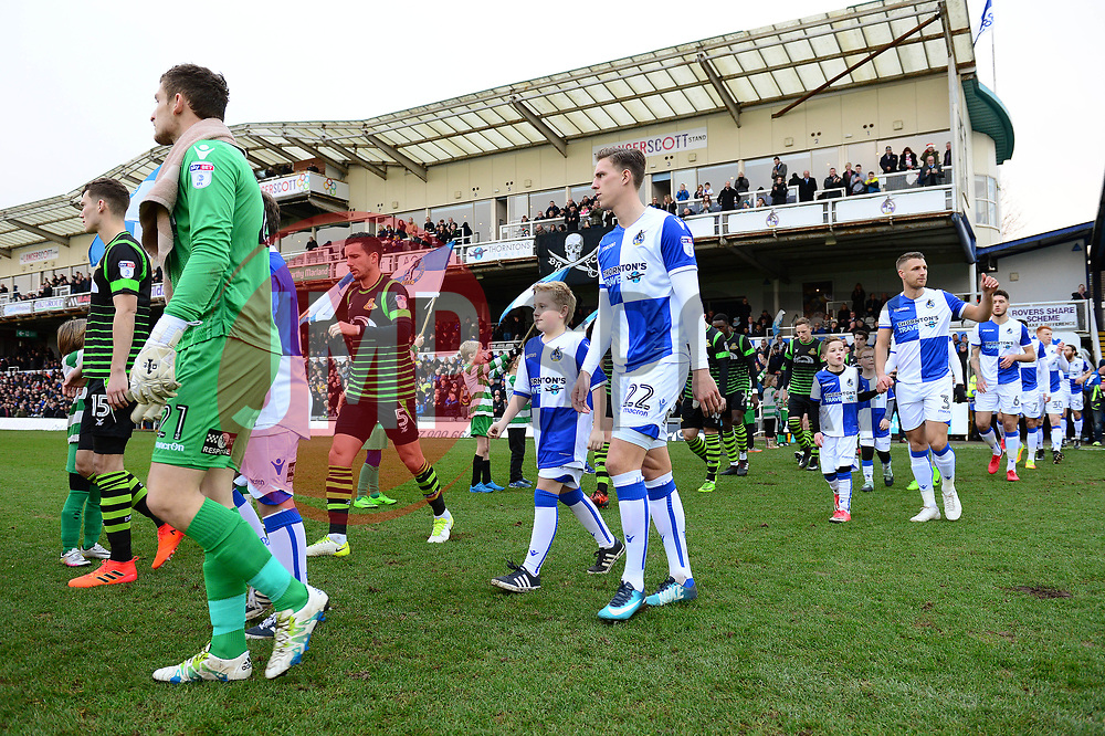 Mascot walk out - Mandatory by-line: Dougie Allward/JMP - 23/12/2017 - FOOTBALL - Memorial Stadium - Bristol, England - Bristol Rovers v Doncaster Rovers - Skt Bet League One