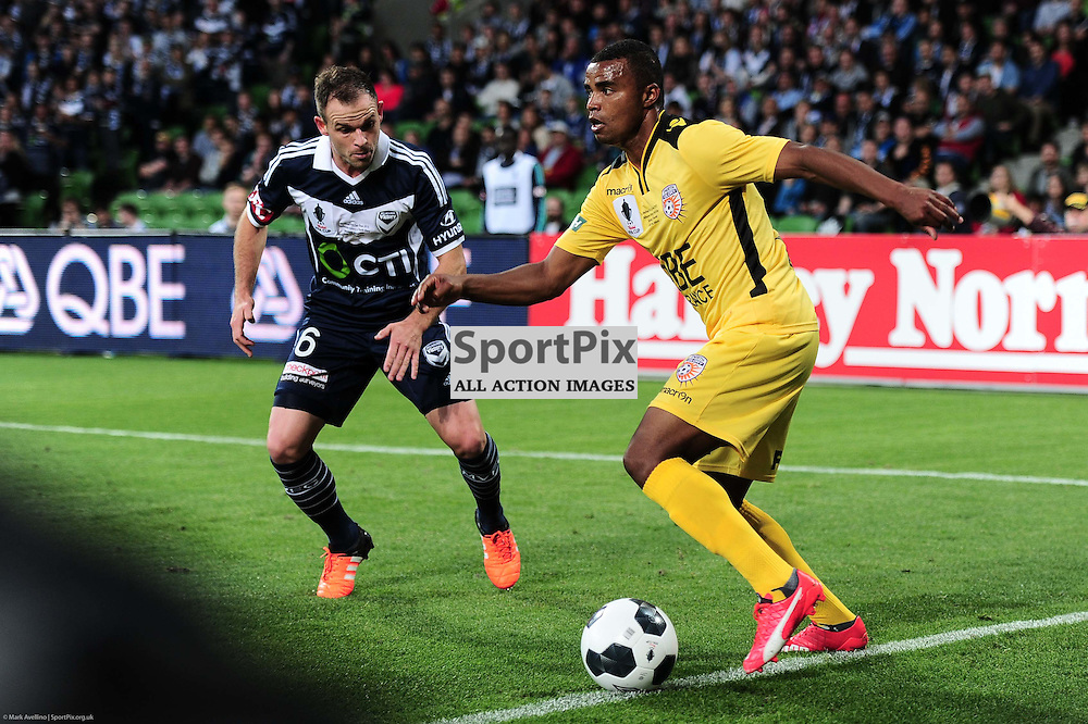 Leigh Broxham of Melbourne Victory, Sidnei Sciola Moraes of Perth Glory FC - Westfield FFA Cup Final, 7th November 2015, Melbourne Victory FC v Perth Glory FC 2:0 win to Victory- © Mark Avellino | SportPix.org.uk