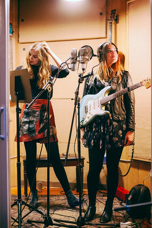 First Aid Kit recording their 4th full-length album with Tucker Martine at Flora Recording & Playback in Portland, OR, Jan-Feb 2017. Photo by Jason Quigley