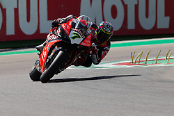 May 10, 2019 - Imola, BO, Italy - Chaz Davies of ARUBA.IT Racing - Ducati during the free practice 2 of the Motul FIM Superbike Championship, Italian Round, at International Circuit ''Enzo and Dino Ferrari'', on May 10, 2019 in Imola, Italy  (Credit Image: © Danilo Di Giovanni/NurPhoto via ZUMA Press)