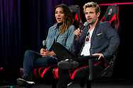 Julia Harkavy and Matt Ryan at The Supernova Comic Con in The Sydney Showground, Sydney, Australia.