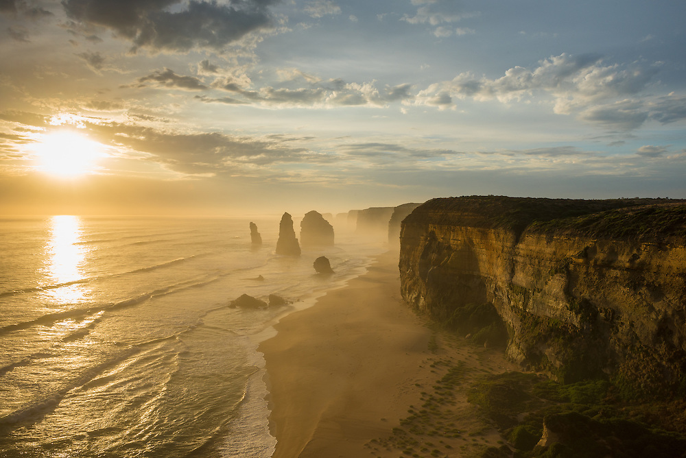 12 Apostles at sunset on the Great Ocean Road