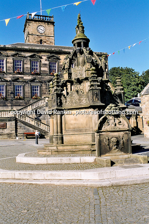 Linlithgow Cross , Linlithgow, West Lothian , Scotland