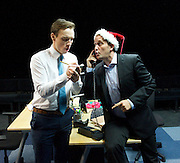 Saxon Court <br /> by Daniel Andersen <br /> at Southwark Playhouse, London, Great Britain <br /> press photocall <br /> 24th November 2014 <br /> <br /> <br /> Scott Nazell as Noel <br /> <br /> John Pickard as Joey <br /> <br /> <br /> <br /> <br /> Photograph by Elliott Franks <br /> Image licensed to Elliott Franks Photography Services