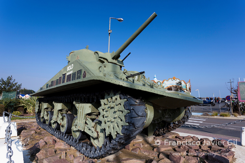 Tank in Courseulles-sur-Mer, Normandy, France