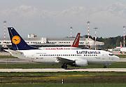 D-ABIP Lufthansa Boeing 737-500 at Milan airport