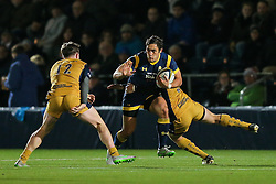 Jackson Willison of Worcester Warriors in action - Rogan Thomson/JMP - 04/11/2016 - RUGBY UNION - Sixways Stadium - Worcester, England - Worcester Warriors v Bristol Rugby - The Anglo Welsh Cup.