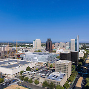 Aerial Photography Sacramento Downtown Capital & Golden1 Arena