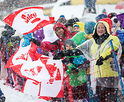 31.01.2016, Casino Arena, Seefeld, AUT, FIS Weltcup Nordische Kombination, Seefeld Triple, Skisprung, Wertungssprung, im Bild Fans // fans during the Competition Jump of Skijumping of the FIS Nordic Combined World Cup Seefeld Triple at the Casino Arena in Seefeld, Austria on 2016/01/31. EXPA Pictures © 2016, PhotoCredit: EXPA/ Jakob Gruber