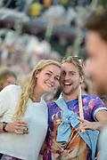 Nederland, Beuningen, Ewijk, 30-6-2018 Festival Down the Rabbit Hole , dtrh . Het is warm en komende dagen blijft het zomerse weer . Het kunstwerk wat toegang geeft tot het terrein heeft een nieuwe naam: Het Grid . Foto: Flip Franssen