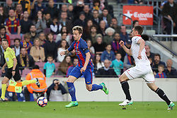April 5, 2017 - Barcelona, Spain - IVAN RAKITIC of FC Barcelona during the Spanish championship Liga football match between FC Barcelona and Sevilla FC on April 5, 2017 at Camp Nou stadium in Barcelona, Spain. (Credit Image: © Manuel Blondeau via ZUMA Wire)
