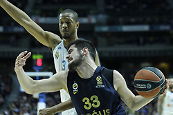 March 2, 2018 - Madrid, Madrid, Spain - KALINIC  NIKOLA of Fenerbahce Dogus in action  during the Turkish Airlines Euroleague basketball match between Real Madrid and Fenerbahce Dogus at the Wizink Center in Madrid, Spain on March 2, 2018. Photo: Oscar Gonzalez/NurPhoto  (Credit Image: © Oscar Gonzalez/NurPhoto via ZUMA Press)