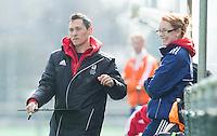 ROTTERDAM -  England coach Jerome Goudie . Practice Match  Hockey : Netherlands Boys U16  v England U16 . COPYRIGHT KOEN SUYK